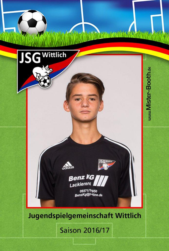 Autogrammkarte JSG Wittlich